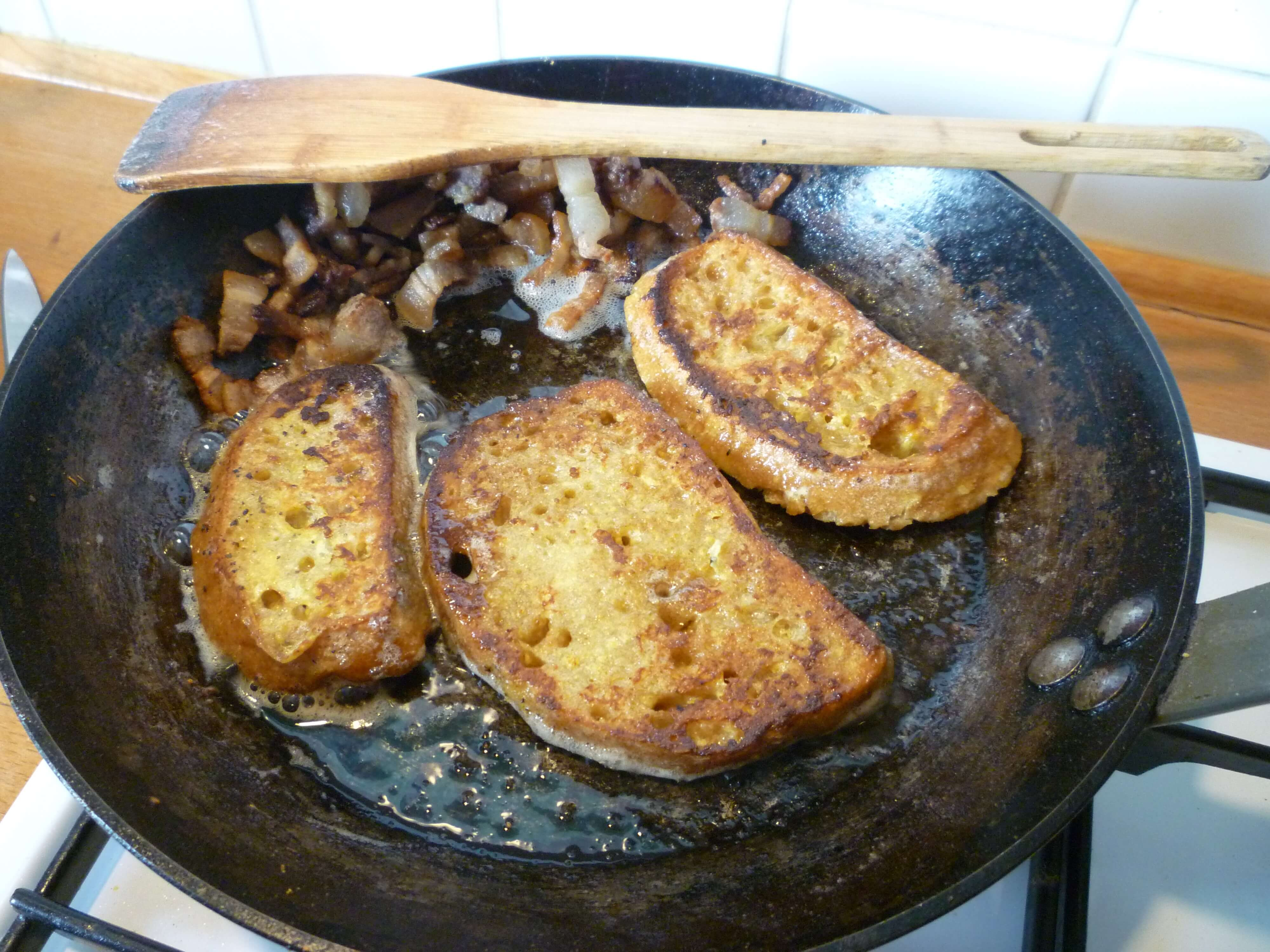 pain perdu lardons (2)
